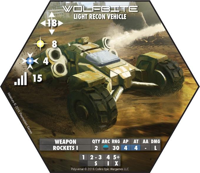 Wolfbite Light Recon Vehicle - Plasmablast Games (Art: Bruno Werneck)