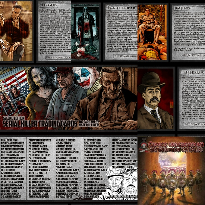 Serial Killer New Trading Cards - 90 count