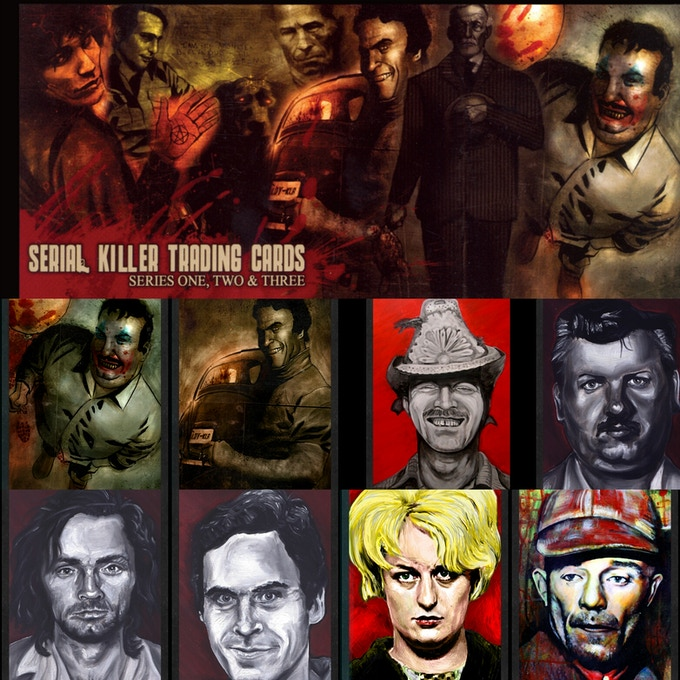 Serial Killer Original Trading Cards - 75 count front side