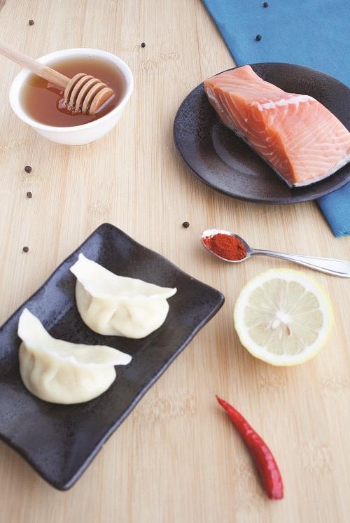 Sweet 'n Spicy Salmon Dumplings
