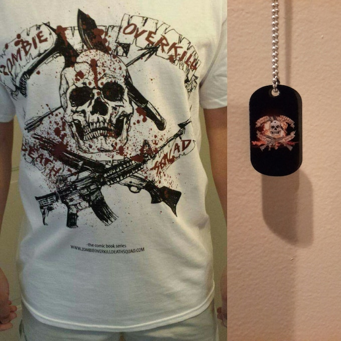 ZODS T-shirt and dogtag