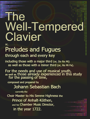 Concept art created for the English version of the world's first full-color edition of the Well-Tempered Clavier