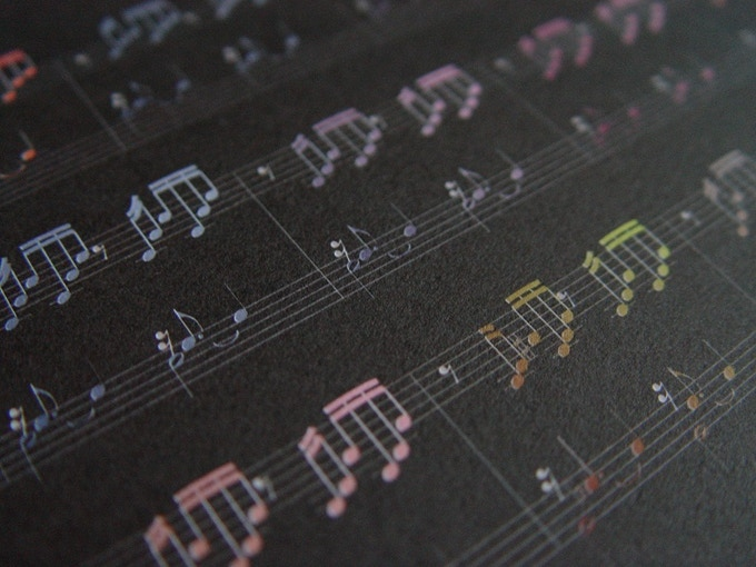 Colormusik: Print detail, available in 5x7 and 8x10 for Art Lover and Musician rewards