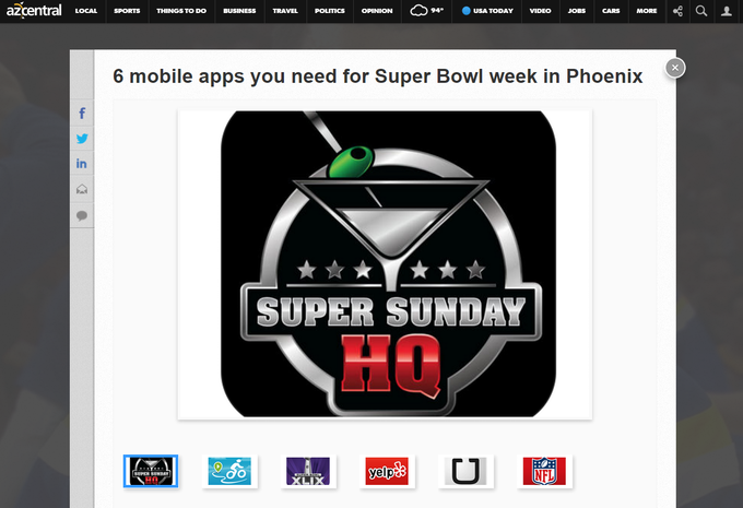 Super Sunday HQ - The App