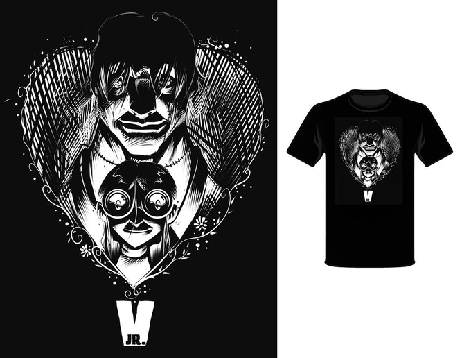 T-shirt art and close-up