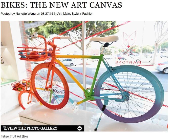 The Rainbow Bikes were featured on Design Milk