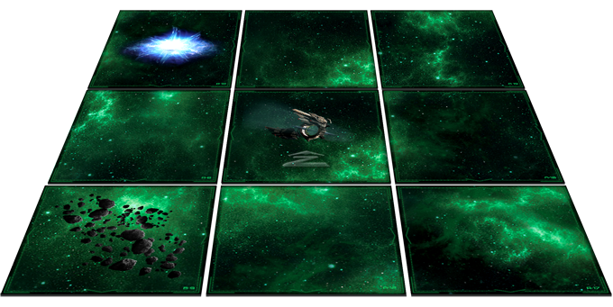 From front to back, Asteroid Fields, Jump Gates or Gravitic Fields are some of the several special fields included in the game and its expansions.