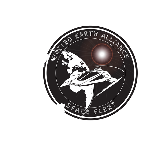 United Earth Space Fleet Logo, Art by Robert T Baumer