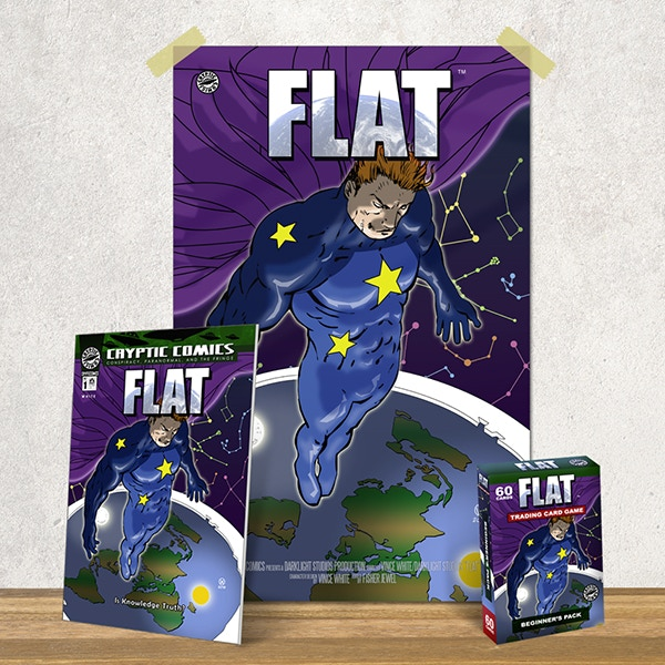 "PLEDGE and Get Your Copy Of ""FLAT"" #1, Wall Poster, and Collectable Trading Card Game!"
