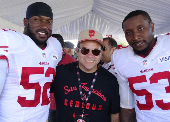 Ken Spalasso with 49ers NaVorro Bowman & Patrick Willis