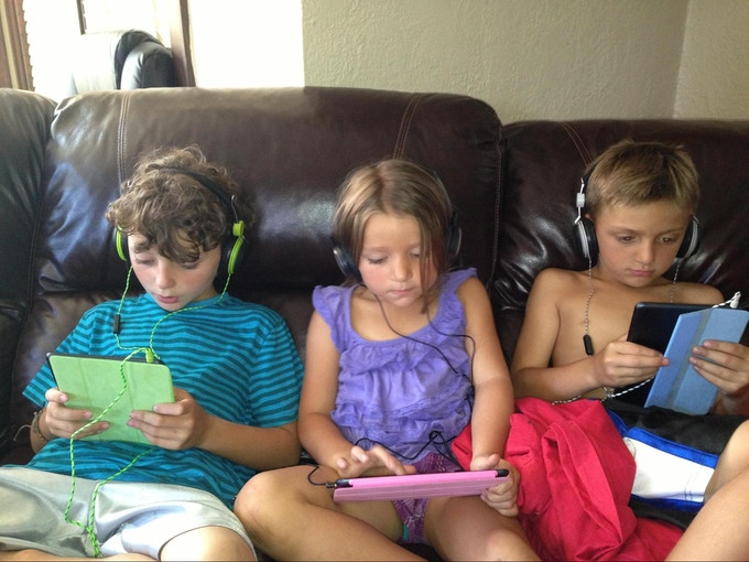 Franchino's three children are digital natives
