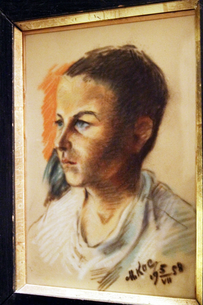 the filmmaker's father, age 8, painted by Kossenko