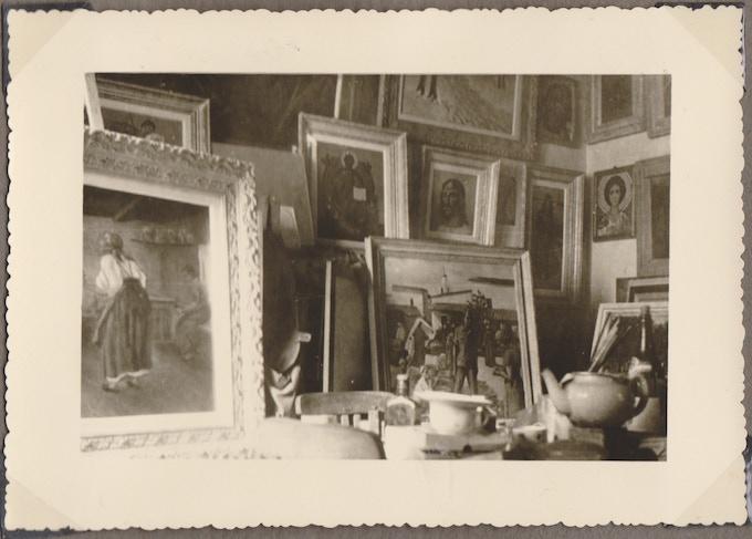 Kossenko's studio, 1954