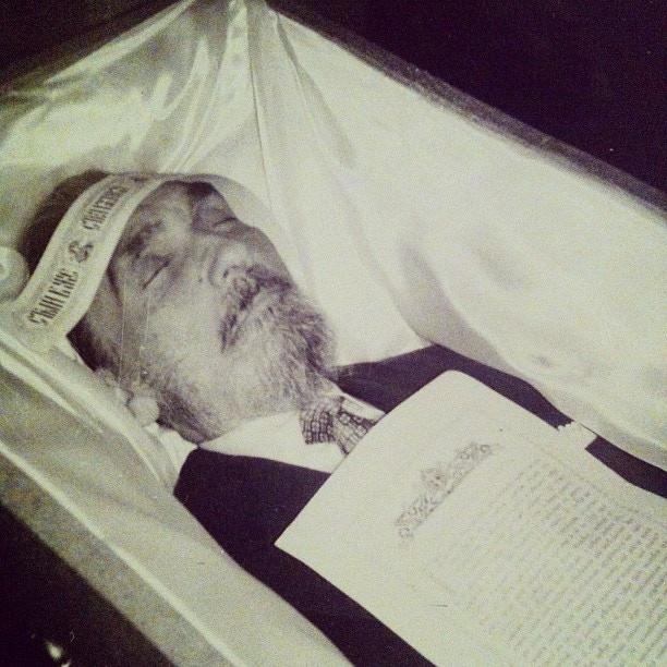 Kossenko in his casket, 1963