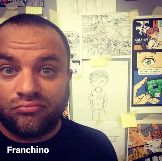 Author and creator, Franchino is the a real world computer programmer and designer
