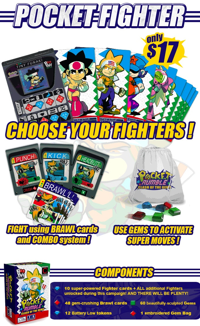 Note: Also included in the box are 6 Reference cards that show all of the Super Moves.