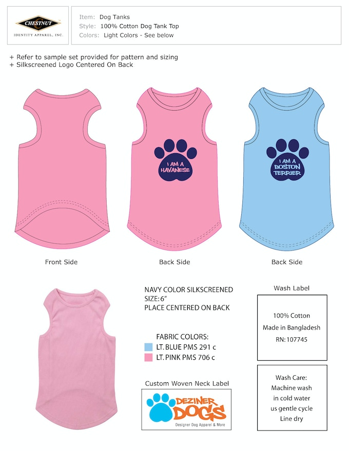 How we made the tank tops