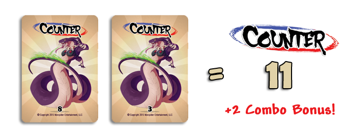 Stacking (Counter 11) With 2 Cards Nets A +2 Combo Bonus!