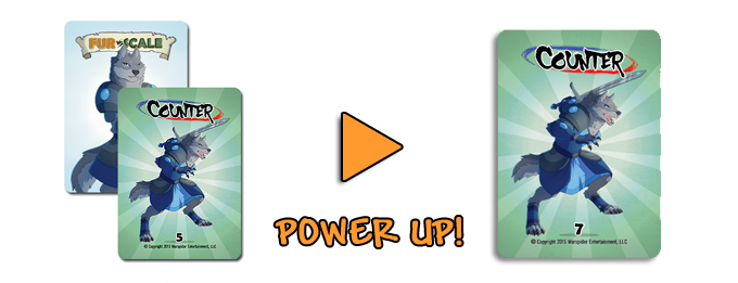 Add A Power Up To Boost A Card's Value!