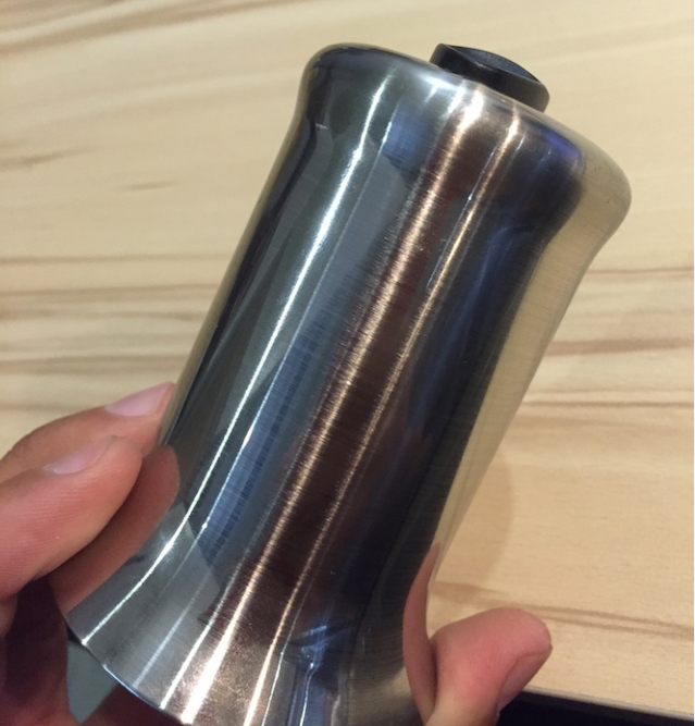 Example of electroplated brushed nickel