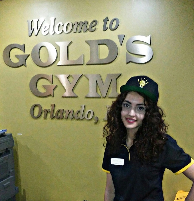Support from the staff at Gold's Gym in Orlando, FL.