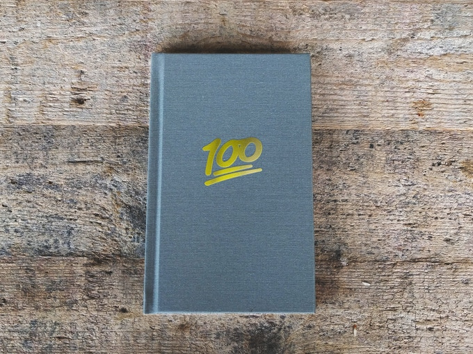 Limited edition book (included in the $100 tier) features a gold foil alternate cover