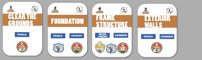 Barn Raiser Building Cards
