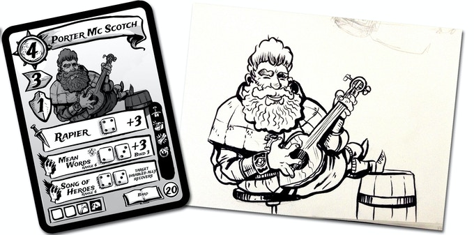 Porter McScotch, B-Squad writer Eben Burgoon's Dwarf Bard