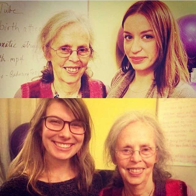 March 14th 2014 - Emily and Kelsey with Midwife Ina May Gaskin