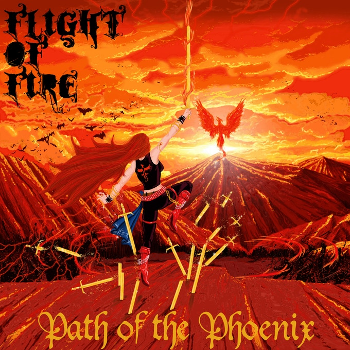 Path of the Phoenix Cover Art by Lucas Seven (This piece is the first in a series of six being developed for the concept album)
