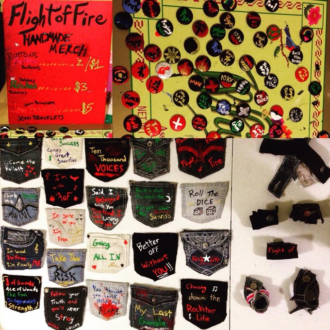 Some of the handmade merch you can get YOUR hands on!
