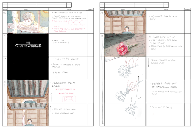 Sample from 'The Glassworker Storyboards'
