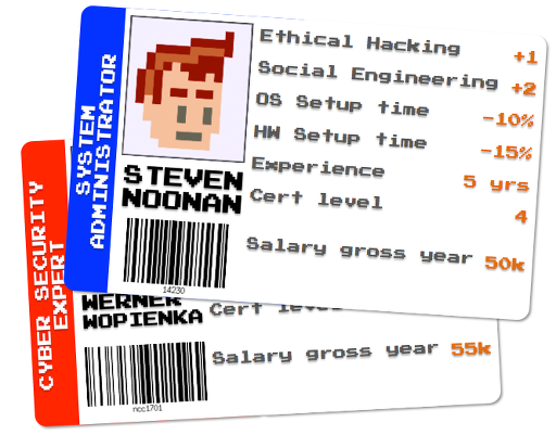 Example of employees badges