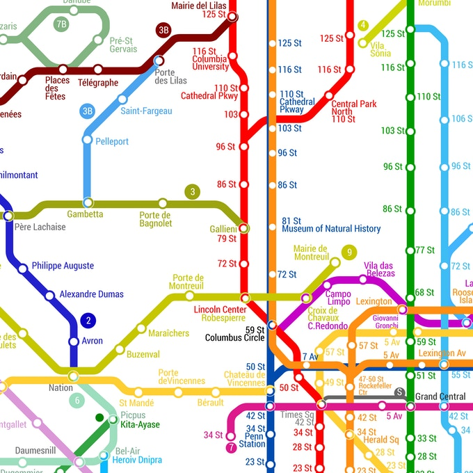 The world metro map by g cid kickstarter the intersection between paris and new york gumiabroncs Gallery