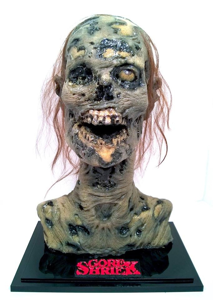 The Official Gore Shriek Zombie bust hand crafted by Jared Balog