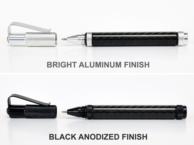 The CF2 is available in Black Anodized or Bright Aluminum finishes.