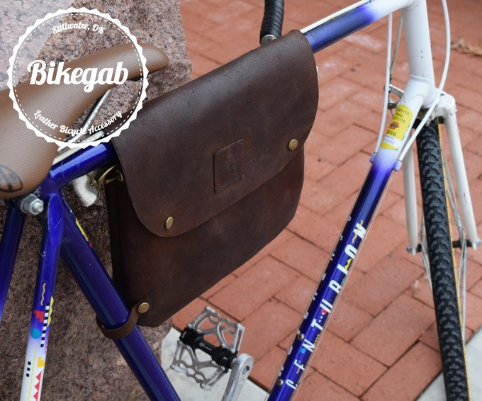 2 in 1 Oil tan leather frame bicycle bag and crossbody bag