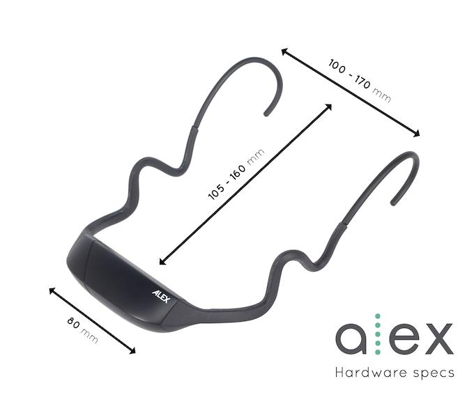 ALEXの外観およびサイズ