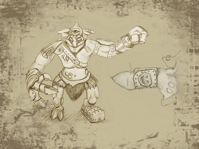 Krusk the Cyclops troll