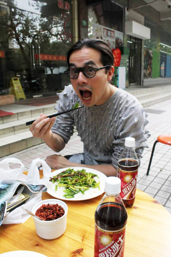 That's me, eating DELICIOUSNESS in China!