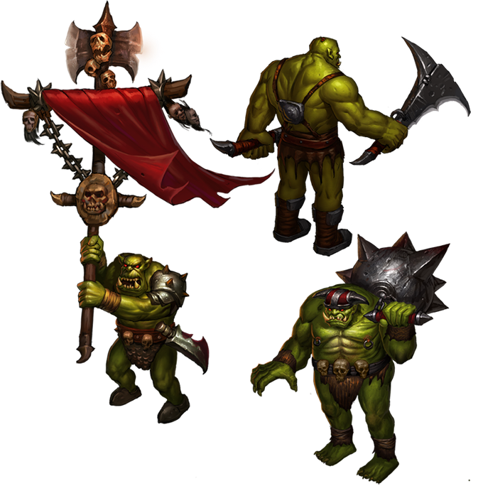 Orcs - Warbanner, Warrior and Krusher