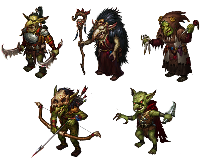 Goblins - Warrior, Warlock, Witch, Archer and Assasin
