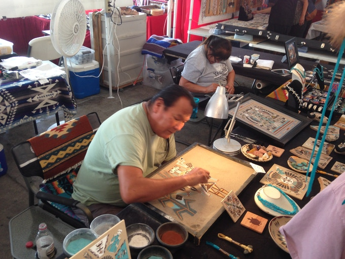 """One of the many talented artisans at the 53rd Annual Indian Pow Wow in Grand Prairie, Texas"""