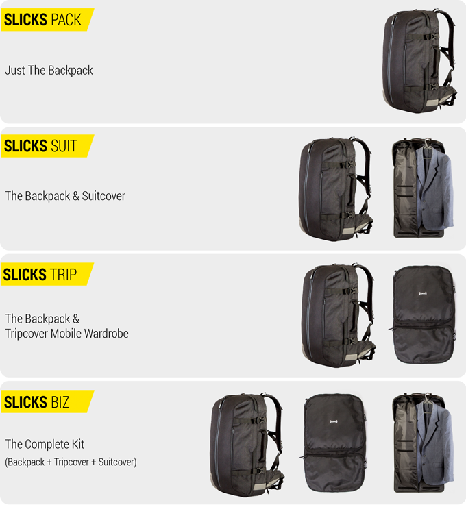 cbec604d57 Slicks Travel System  One Backpack