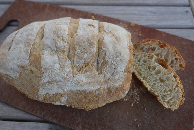 Rustic bread baked on your Innovo