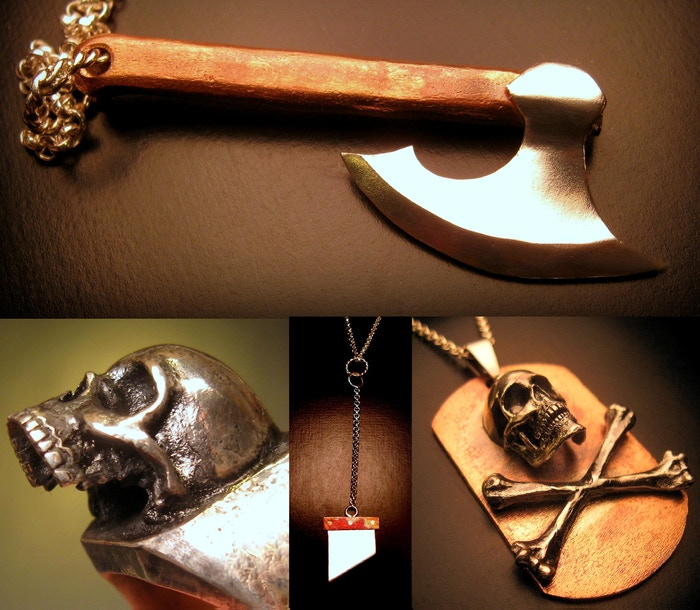 """Bones and Blades"" Hand crafted artisan jewelry collection of rings, pendants and more! Create a Nashville artisan jewelry gallery!"