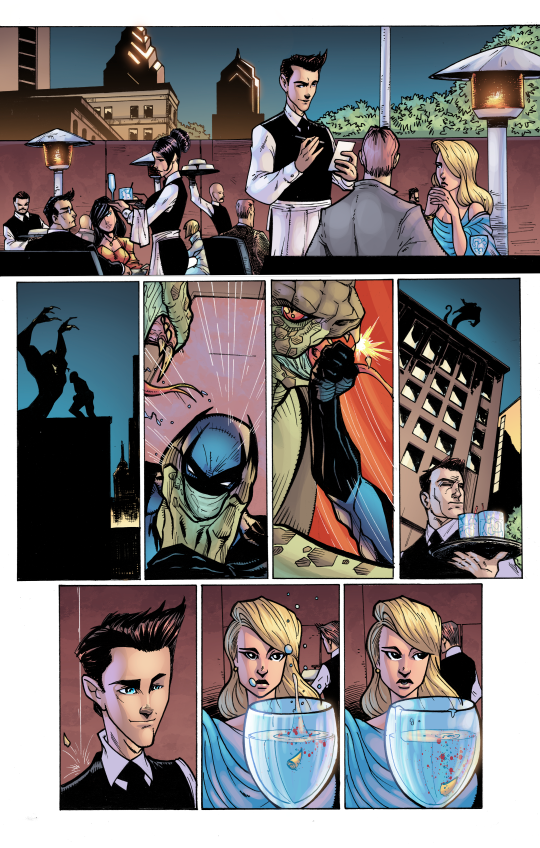 ACP #1: Midknight, Page One. Pencils/Inks: Tom Hodges, Colors: Jeremiah Skipper