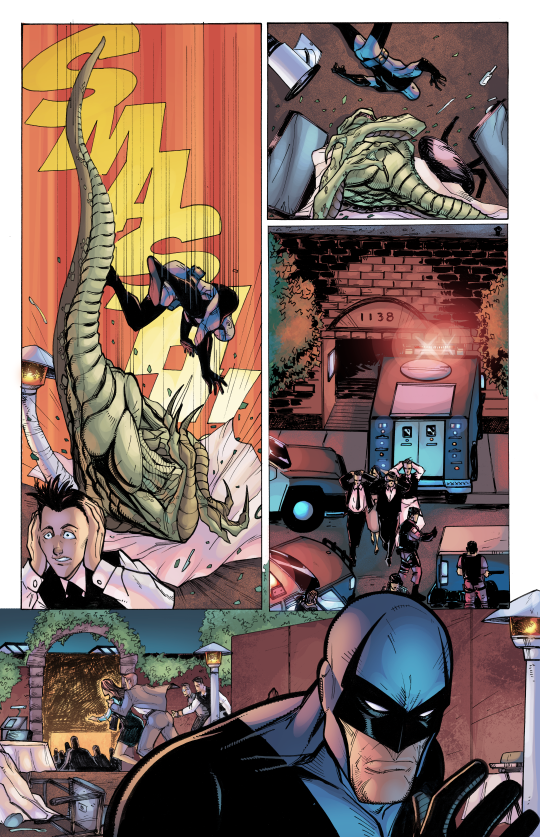 ACP #1: Midknight, Page Three. Pencils/Inks: Tom Hodges, Colors: Jeremiah Skipper