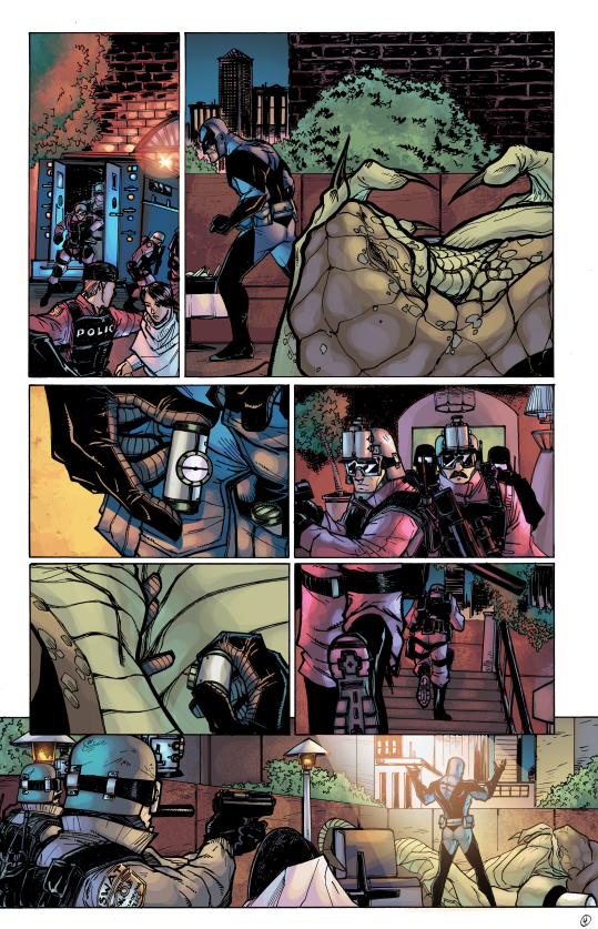 ACP #1: Midknight, Page Four. Pencils/Inks: Tom Hodges, Colors: Jeremiah Skipper