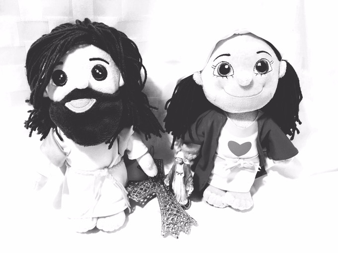 Mary and Jesus Plush Blessties